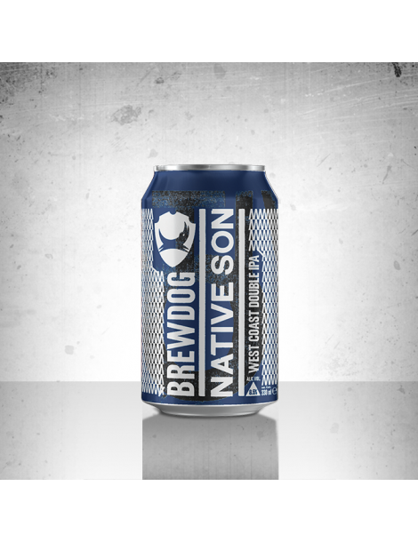 BREWDOG NATIVE SON DOUBLE IPA 0.33lt (Κουτί)