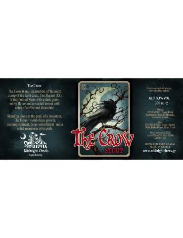 MIDNIGHT CIRCUS  THE CROW STOUT 0.33lt
